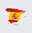 map of spain with flag vector image vector image
