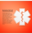 Medical symbol of the Emergency - Star Life flat vector image vector image