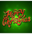 Merry Christmas lettering Vintage Background With vector image