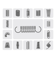 Metal Springs Set vector image