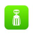modern corkscrew icon digital green vector image vector image