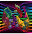 music party background vector image vector image