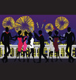 new year party celebration vector image vector image