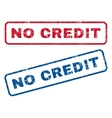 No Credit Rubber Stamps vector image vector image