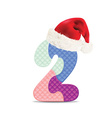 Number 2 written with alphabet puzzle vector image vector image