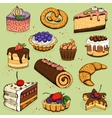 Pies and flour products for bakery pastry vector image vector image