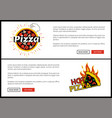 pizza and hot web set vector image vector image