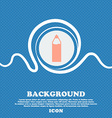 Plastic bottle with drink icon sign Blue and white vector image vector image