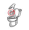 please do not litter in toilet vector image