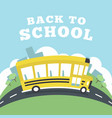 school bus running to school back to school vector image vector image