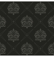 Seamless black old style pattern vector image vector image