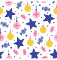 seamless christmas pattern vector image vector image