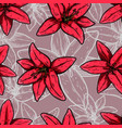 seamless pattern with lily flowers design element vector image