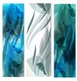 set of abstract blue backgrounds for design vector image