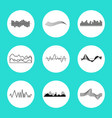 set of charts in circles on vector image vector image