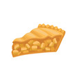 slice of delicious charlotte pie freshly baked vector image vector image