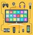 smart tv concept vector image vector image