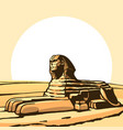 sphinx ancient statue vector image
