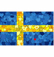 swedish flag made of hearts background vector image
