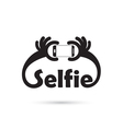 Taking selfie portrait photo on smart phone vector image vector image