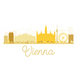 Vienna City skyline golden silhouette vector image