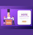 web banner business people putting ballot paper vector image