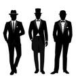 wedding men s suit and tuxedo gentleman vector image