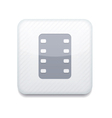 white film icon Eps10 Easy to edit vector image