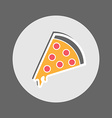 Pepperoni Pizza Flat Icon vector image