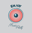 music party poster vector image