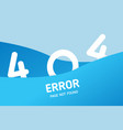 404 error with wave graphic design template for vector image vector image