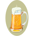 a mug full of cold beer vector image