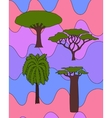 african trees set vector image vector image