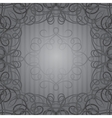 Background with ornamental curly frame in retro vector image vector image