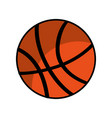 basketball balloon isolated icon vector image vector image