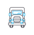 big rig thin line stroke icon big rig vector image vector image
