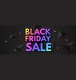 black friday sale poster template super offer 3d vector image