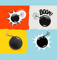 bomb ready to explode icon bombshell comic vector image vector image