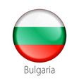 bulgaria round button flag vector image vector image