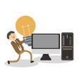 business and technology vector image vector image