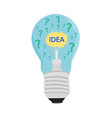 business light bulb idea icon vector image vector image