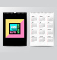 calendar template for 2018 year vector image vector image
