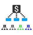 cashout scheme flat icon vector image vector image