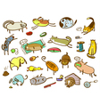 cats and dogs set vector image vector image