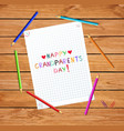 children colorful hand drawn lettering happy vector image vector image