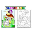 childrens color and coloring cartoon animal vector image vector image