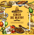 Cinco de mayo mexican sombrero and fiesta food