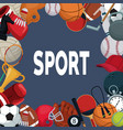 color background with border of elements sport vector image vector image