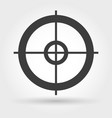 crosshair icon on white vector image