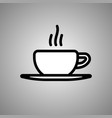 cup coffee icon cup coffe in eps 10 vector image vector image